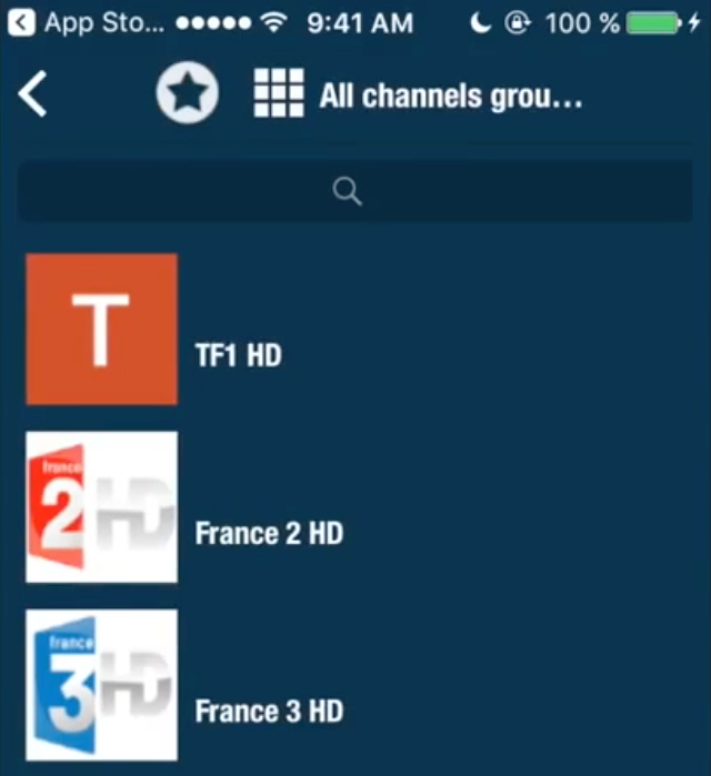 Titta på kanaler på iPhone