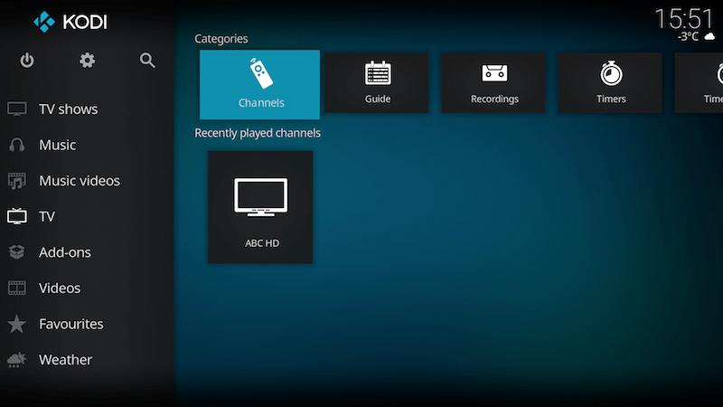 Få in kanalerna på IPTV Simple Client 11