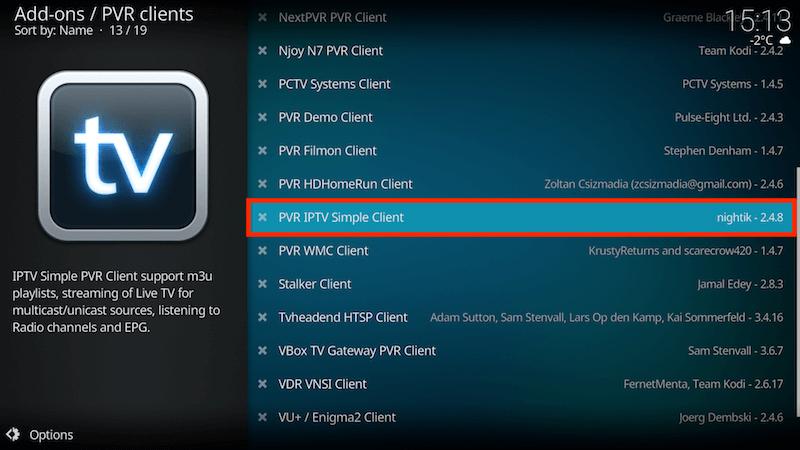 Få in kanalerna på IPTV Simple Client 4