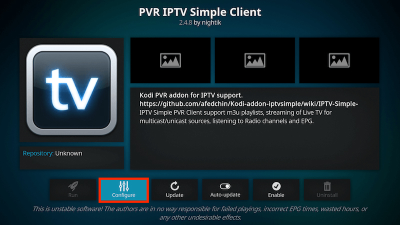 Få in kanalerna på IPTV Simple Client 5