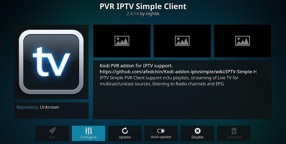 Få in kanalerna på IPTV Simple Client
